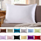 100% Pure Mulberry Silk Pillow Cases Cushion Covers Zipper Closure Queen Natural