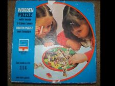 Vintage Holland Wooden Puzzle with knobs for 2-6y.o.