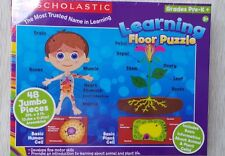 Scholastic Learning  Floor Puzzle Educational  Pre-K + Fine Motor Skill