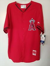 New Majestic Authentic Los Angeles Anaheim Angels Baseball Jersey Mens 44 L $95
