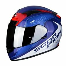 Casco Scorpion Exo-710 Mugello Blue-white talla XL