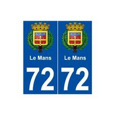 72 Le Mans blason autocollant plaque stickers ville