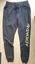 Donna Adidas Black Gold Pantaloni Sportivi Tuta Bottoms Pantaloni 10