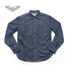 NON STOCK Wabash Stripe Work Shirt Vintage Denim Railway WorkShirts For Men