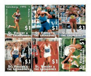 St. Vincent 1995 SC# 2183 Olympics Goteborg, Atlanta - Sheet of 6 Stamps - MNH