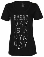 "Nike SZ S WOMEN'S ""Everyday is a Gym Day"" RUNNING/GYM T-SHIRT BLACK AJ7621-010"