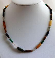 CADENA CON de colores natural Piedra Preciosa y glasperlen-disco mezcla, 45cm