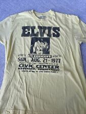 Vintage Elvis 1977 Concert T Shirt Yellow Large