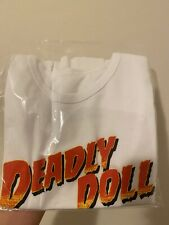 Deadly Doll cropped baby t One Size Jesse Jo Stark Chrome Hearts