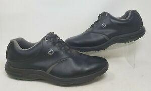 FootJoy GreenJoys Golf Shoes Mens 13M Black 45538 Water-Resistant FJ