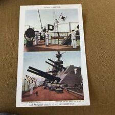1907 Jamestown Exposition Official Souvenir Ship Postcard U.S.S. Connecticut