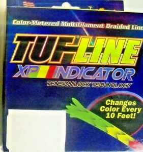 BRAIDED LINE 1200 YARDS INDICATOR TUF LINE XP TUF PLUS FISHING LINE-CHOOSE POUND
