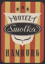 Hotel Koffer Etikett / luggage label - Hotel Smolka Hamburg Germany