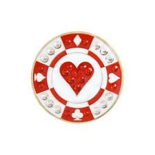 NEW Navika Red Poker Chip Swarovski Crystals Golf Ball Marker with Hat Clip