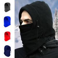 Unisex Winter Outdoor Fleece Warm Ski Face Cover Mask Hat Cowl Cap Neck Wrap