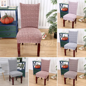 Stretch Dining Room Banquet Bar Hotel Chair Cover Solid Color Party Home Decor