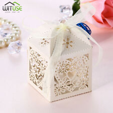 Gift Box Heart Favor Ribbon Candy Box Wedding Party Favours Decor 50/100/200 Pcs