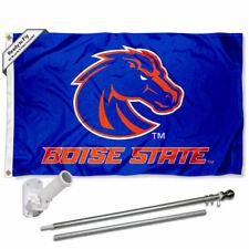 Boise State Broncos Blue Flag Pole and Bracket Gift Set Package