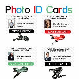 Photo Id Card | Security | Exhibitor |Volunteer | Delegate | Identity Card.