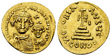 Moneta ORO Heraclius AV solidus - (610-641 ad), with Constantinus. very fine