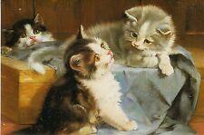 Grußkarte: Best Friends - beste Freunde - Malerei von Julius Adam (1852-1913)