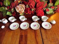8 Pcs. Mini Tea Hearts Set 4-Cups, 4-Saucers