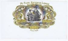 Mi Flor Antonio Lopez  cigar box label two women, flowers