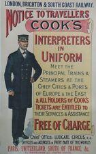 """""""COOK'S INTERPRETERS IN UNIFORM"""" Affiche originale entoilée Litho 1900 68x106cm"""