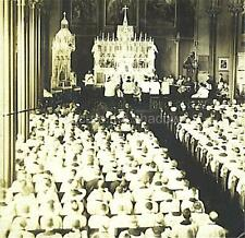 RPPC: LARGE PRIESTLY CONVOCATION in Roman Catholic CATHEDRAL