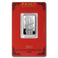 10 gram Silver Pamp Suisse Lunar Year of the Snake Bar - In Assay - SKU #78608