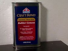 Elmer's No Wrinkle 1 Pint Rubber Cement, Craft Bond ,Acid free ,Photo Safe