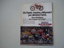 advertising Pubblicità 1978 MOTO FANTIC CABALLERO CASA TX 190 50