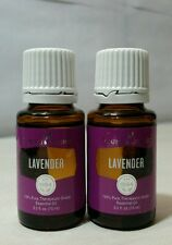 NEW Young Living LAVENDER 15ml (2 PACK) 100% PURE ESSENTIAL OIL - FREE S&H!