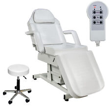White Fully Electric Adjustable Massage Facial Bed Beauty Spa Salon Equipment