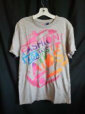 Fashion Against Aids Tshirt Gray Neon Colors H&M Womens Large