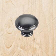 """Kitchen Cabinet Hardware kt940 Mushroom Knobs Black Antique 1-3/16"""""""