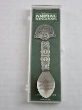 Disney Animal Kingdom 2001 Collectible Pewter Spoon Made USA New In Case