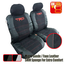 Pair New Universal TRD Pro Suede Leather Seat Cover For Lexus IS 200T 300H 350V6
