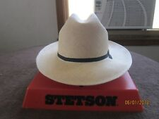 Vintage Stetson Straw Open Road Hat. From The 1970's S-7 1/4 Excellent Condition