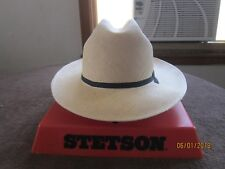 2ef6e59fc4d Vintage Stetson Straw Open Road Hat. From The 1970 s S-7 1 4