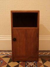 Wonderful walnut art deco bedside cabinet 1940s vintage lamp table