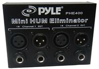 Pyle PHE400 Hum / Noise Eliminator 2-Channel Box with 1/4'' & XLR Jacks