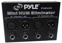 Pyle PHE400 Hum / Noise Eliminator 2-Channel Box with 1/4'' & XLR Jacks