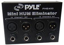 NEW Pyle PHE400 Hum / Noise Eliminator 2-Channel Box with 1/4'' & XLR Jacks