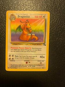 Dragonite 1999 19/62 Rare Fossil Base Set Pokemon Card
