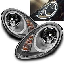F. Porsche Boxster/Cayman 987 Bj.04-08 Scheinwerfer Grau LED Tagfahrlicht Opt