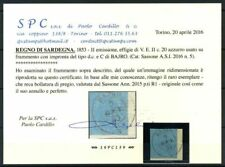 Sardegna 1853 Sass. 5+R1 Usato 100% Cardillo cert. Bajro