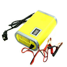 12V 6A Motorcycle Car Auto Charger Battery Intelligent Charging Machine Yellow