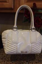Burberry IVORY Small Patent Leather Quilted Bowling Bag (pu220