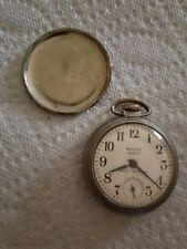 Antique 1958 Westclox Scotty Pocket Watch Shock Resistant US Made Running